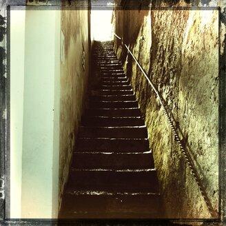Italy, Campania, Amalfi Coast, stairs - STE000101
