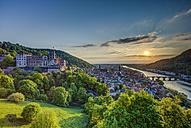Germany, Heidelberg, Heidelberg Castle and Neckar River - TIF000046