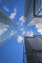 Germany, Hesse, Frankfurt, Silver Tower and Skyper, view from below - TIF000047