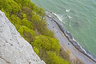 Germany, Mecklenburg-Western Pomerania, Ruegen, Jasmund National Park, Chalk coast at Koenigsstuhl - MJF001242