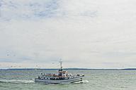 Germany, Mecklenburg-Western Pomerania, Ruegen, Sassnitz, Ship on Baltic Sea - MJ001252