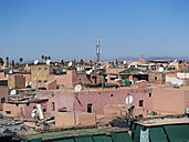 Africa, Morocco, Marrakesch-Tensift-El Haouz, view to roof tops of medina - AMF002269