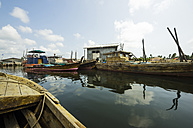 Indonesia, Riau Islands, Bintan Island, Fishing village, Fishing boats - THAF000398