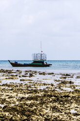 Indonesia, Nikoi Island, Fishing boat with fish traps - THAF000408