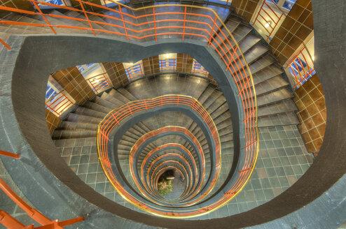 Germany, Hamburg, stairwell at Sprinkenhof - RJ000151