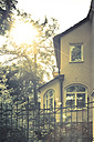 Germany, residential house in back light - FCF000215