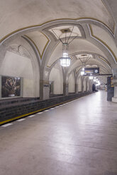 Germany, Berlin, historic subway station Heidelberger Platz - NKF000131