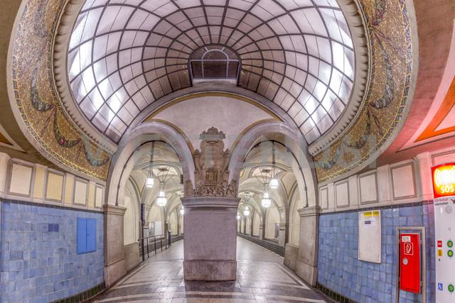 Germany, Berlin, historic subway station Heidelberger Platz - NKF000132