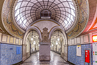 Germany, Berlin, historic subway station Heidelberger Platz - NKF000132