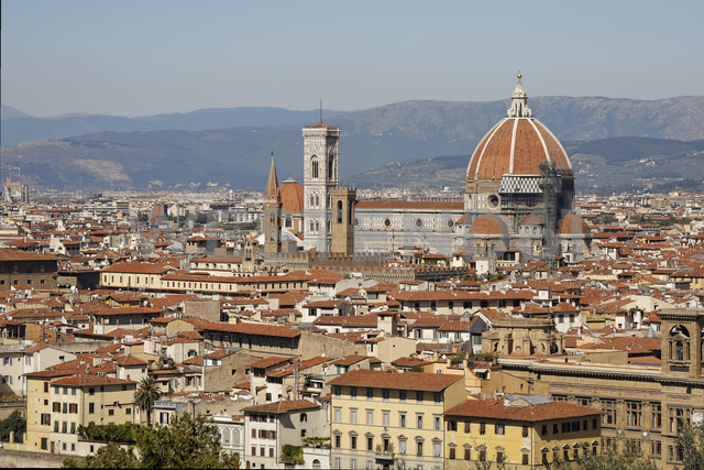 Italy, Tuscany, Florence,  Old town and Florence Cathedral - GFF000507