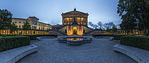 Germany, Berlin, Old National Gallery in the evening - PVC000001