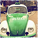 Classic Car, old VW police car, Hamburg, Germany - SE000697