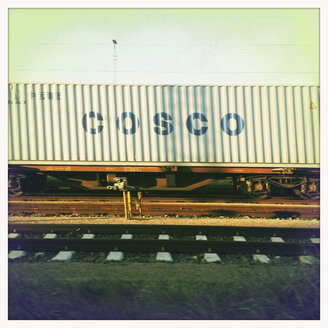 Containers on railway cars, Hamburg, Germany - MEM000059