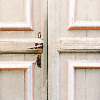Door handle on a front door, Lower Saxony, Germany - MEMF000064