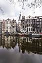 Netherlands, Holland, Amsterdam, Houses and Zuiderkerk in the background - THA000425
