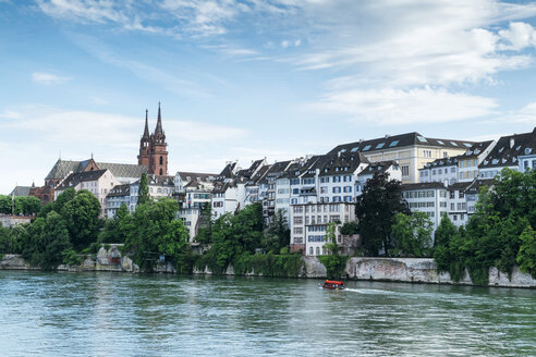 Switzerland, Basel, Cityscape with River Rhine and Minster - ELF001034