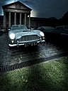 Parking Aston Martin DB 5 with lighted headlights - AM002270