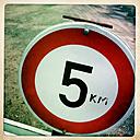 Maximum speed in a parking lot in Appenweier, Baden-Wuerttemberg, Germany, - DHL000456