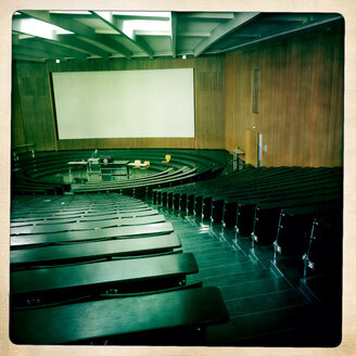 The main auditorium at the Albert-Ludwigs University in Freiburg im Breisgau, Baden-Wuerttemberg, Germany - DHL000458