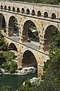 France, Languedoc Roussillon, Gard, view to Pont du Gard - JBF000098