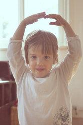 Portrait of little girl dancing - LVF001342