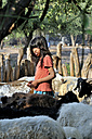 Argentina, Gran Chaco, Salta, Zapota, portrait of Indian girl of Wichi people herding goats - FLK000300
