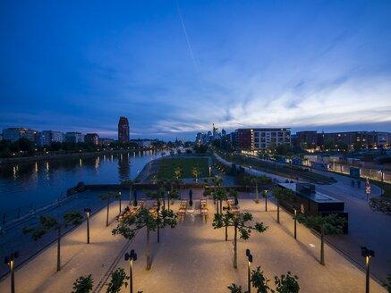 Germany, Hesse, Frankfurt, Ostend and skyline of Frankfurt - AMF002282