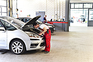 Car mechanic in a workshop working at car - LY000055