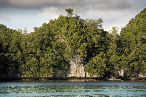 Micronesia, Palau, rocky coastline - JWAF000056