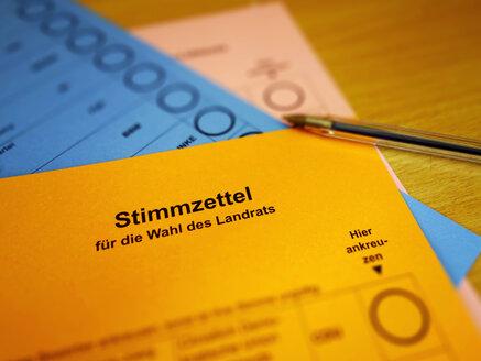 Germany, North Rhine-Westphalia, Minden, three ballots - HOH000838