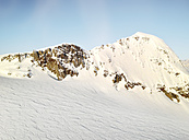 Aerial view of a snow landscape from the Helokopter, Alaska, USA - BMA000016