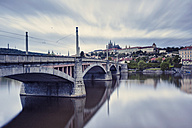 czech republic, Prague, Bridge and Prague Castle in the background - HCF000035