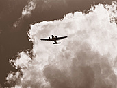 Junkers JU 52 flying in front of cloudy sky - BSC000428