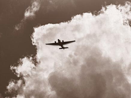 Junkers JU 52 flying in front of cloudy sky - BSC000428