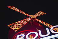 France, Paris, lightes Moulin Rouge by night - FMK001274