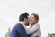 France, Paris, portrait of couple in love - FMKF001310
