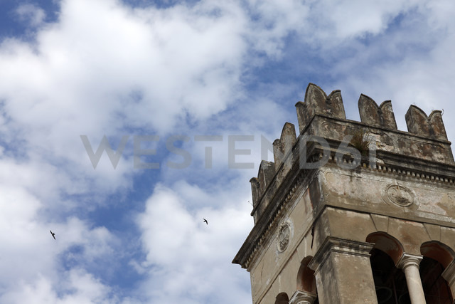 Greece, Ionic Islands, Corfu, partial view of old tower - AJF000057