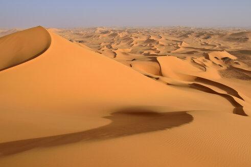 Africa, Algeria, Sahara, Tassili N'Ajjer National Park, Tadrart, Sand dunes of Oued in Djerane - ES001213