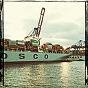 Container ship in port, offshore terminal, Hamburg Hamburg, Germany - SE000740