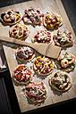 Home made mini pizzas - MAEF008491