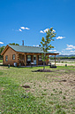 USA, Texas, Log home cabin - ABAF001377