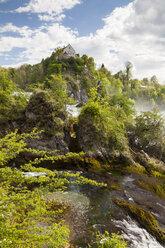Switzerland, Schaffhausen, Rhine falls with Laufen Castle - WIF000796