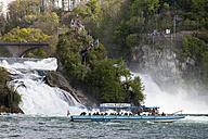 Switzerland, Schaffhausen, Rhine falls and excursion boat - WI000800