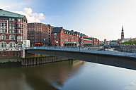 Germany, Hamburg, View of the Zollkanal and historic warehouse district - RJF000199