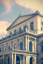 Germany, Lower Saxony, Hannover, State opera in the evening light - HOHF000882