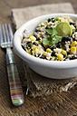 Mayan couscous salad with couscous, black beans, corn, cilantro, red onion, jalapeno - HAWF000311