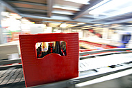 Germany, beer crate on an assembly line of a brewery - SCH000287