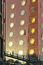 Germany, Hamburg, St. Pauli, part of facade of design hotel - MSF004047