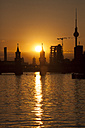 Germany, Berlin, Friedrichshain-Kreuzberg, Oberbaum bridge and Spree river, Berlin TV Tower in the background, at sunset - ZMF000310