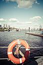 Germany, Hamburg, Port of Hamburg, Lifebelt - KRPF000568